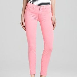 J BRAND Neon 811 Skinny Jeans in Pink